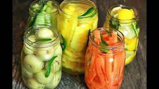 വായിൽ കപ്പലോടും ഉപ്പിലിട്ട നെല്ലിക്ക,പൈനാപ്പിൾ,നാരങ്ങാ ,കാരറ്റ്,വെള്ളരിക്ക || Pickled Vegetables