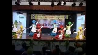 youth fest 2012 zonal performance by gndu campus bhangra team