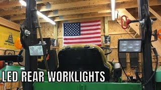 New Led Rear Work Lights For The Tractor From Larsen Lights