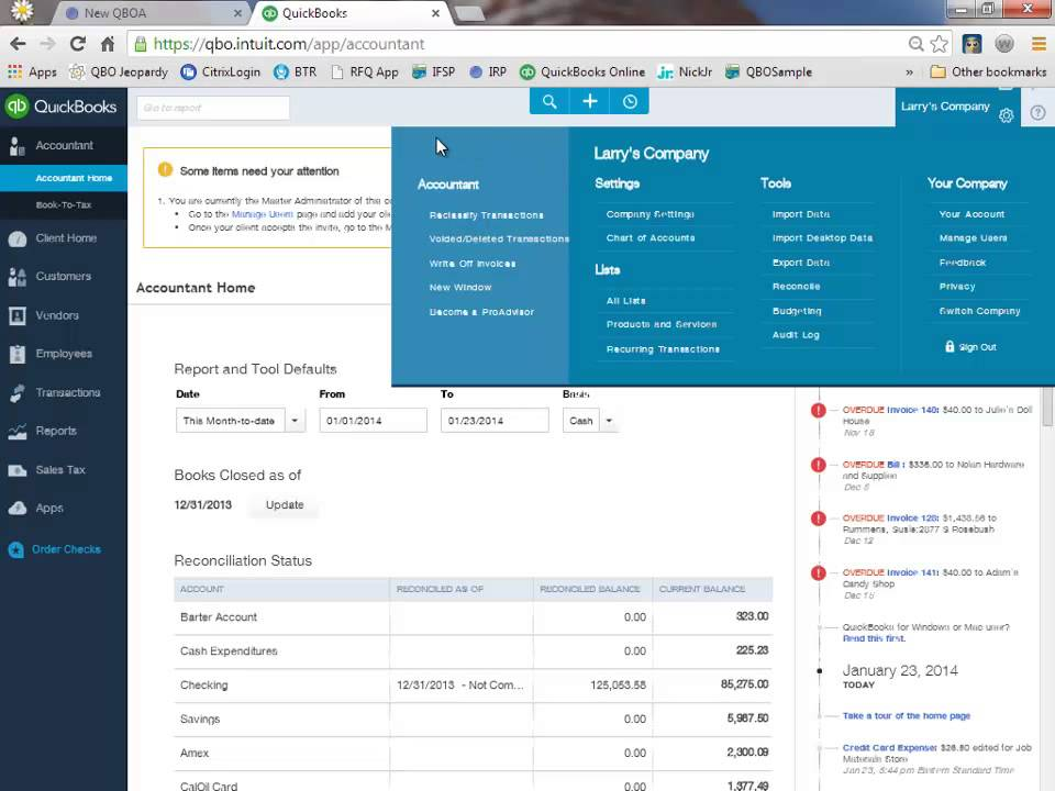 QuickBooks Online Accountant - Batch Reclassify