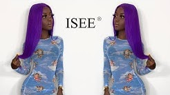 Glueless install , purple lace front wig ! Ft iseehair.com
