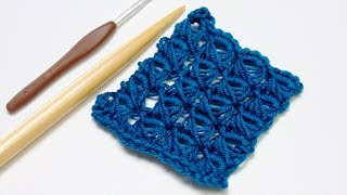 Crochet Broomstick Lace Stitch Tutorial
