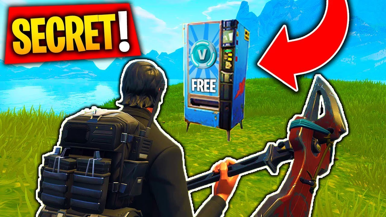 How To Use The New Vending Machine In Fortnite All Locations Battle Royale