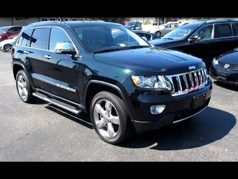 2012 jeep grand cherokee overland 5 7 4x4 walkaround start up exhaust and overview youtube. Black Bedroom Furniture Sets. Home Design Ideas