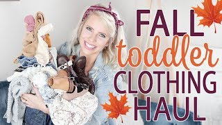 HUGE FALL TODDLER CLOTHING HAUL / Kids Resale Item Finds! + Giveaway!