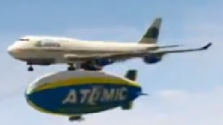 Landing a 747 on a BLIMP - GTA 5 Epic Jumbo Jet Gameplay Stunt!