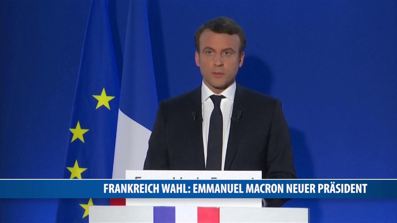 Wahl in Frankreich: Emmanuel Macron ist neuer Präsident - YouTube