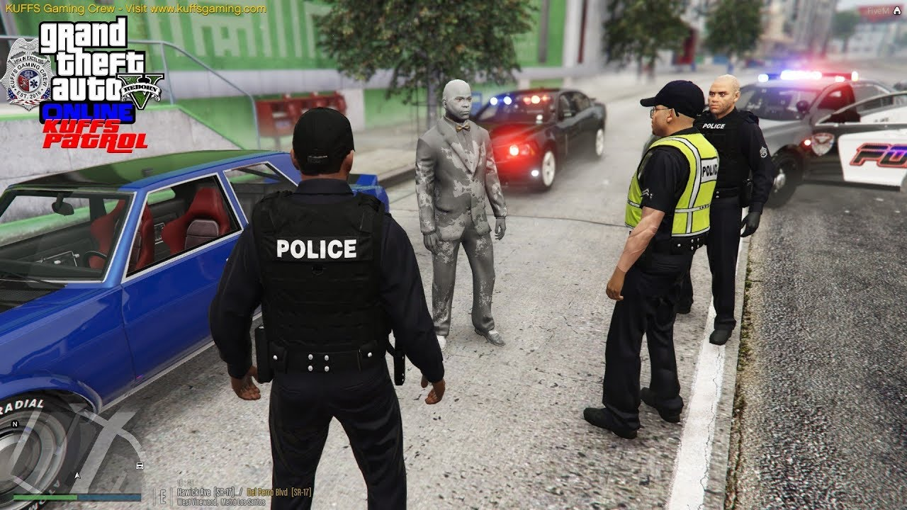 GTA 5 FiveM Police Roleplay Android From The Future Trying To Save The  World KUFFS Multiplayer #208
