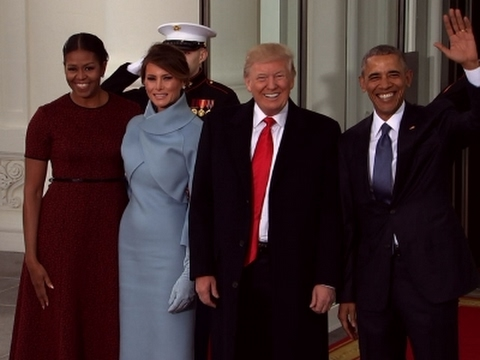 Raw obamas greet the trumps at the white house youtube raw obamas greet the trumps at the white house m4hsunfo