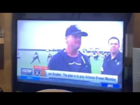 Jon Gruden Says Antonio Brown Will Play For Oakland Raiders Monday Night vs Denver