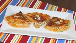 Left Over Roti Cheesy Masala Triangles   Bhavna's Kitchen