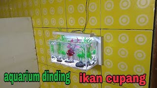 aquariim dinding ikan cupang/betta fish wall aquarium