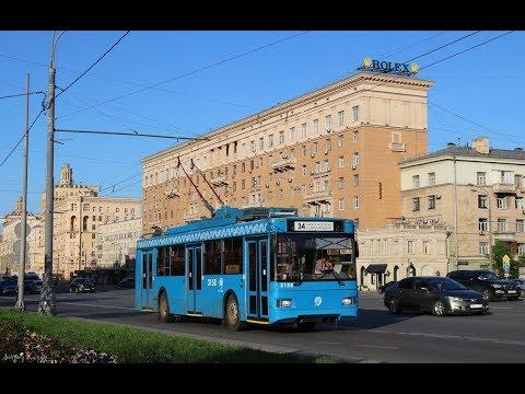 Поездка на троллейбусе Тролза-5275.05 «Оптима» №3158 №34 Киевский вокзал-м.Юго-Западная