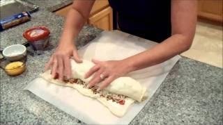 Savory Garlic Pepperoni Sausage Stromboli.wmv
