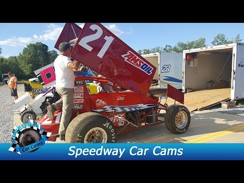 #21 Aubrey Black - Sprint Car - 8-18-17 Boyd's Speedway - In Car Camera