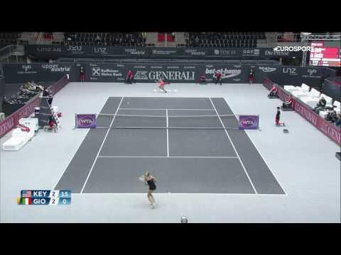 Madison Keys vs. Camila Giorgi @WTA LINZ 2016 HIGHLIGHTS