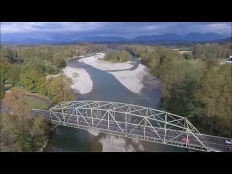 Drone Footage Of The Skykomish River - Monroe, WA