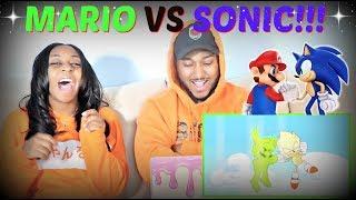 "ScrewAttack ""Mario VS Sonic (Nintendo VS Sega) DEATH BATTLE!"" REACTION!!!"