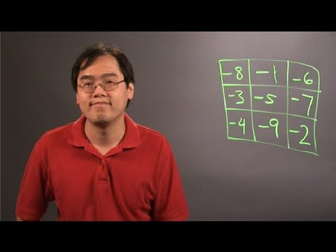 How to Create a Magic Square With Negative Numbers : College Math