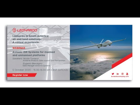 Leonardo in South America Webinar: Avionic ISR Systems for manned and unmanned platforms