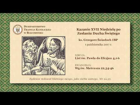 O KOLEJNOŚCI PRZYKAZAŃ I FAŁSZYWYM MIŁOSIERDZIU – ks. Grzegorz Śniadoch IBP – 1 października 2017 r.