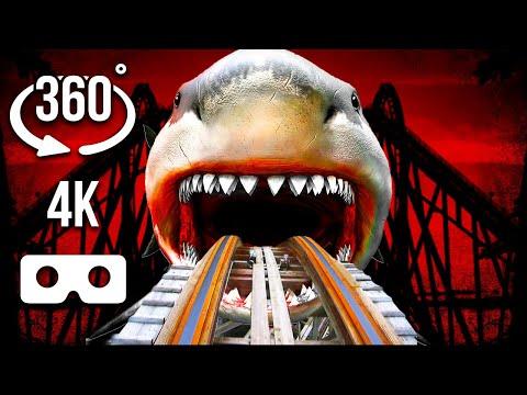 360 VR  SIREN HEAD Vs MEGALADON HEAD Roller Coaster   4K Virtual Reality Experience