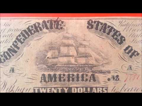 $20 1861 Confederate States Note - Richmond - US CURRENCY COLLECTION