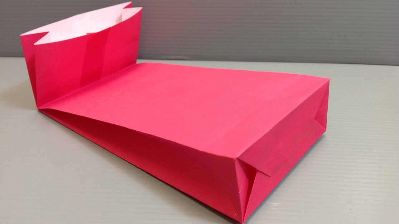 How to make an origami gift bag with a gusset for holidays youtube negle Choice Image