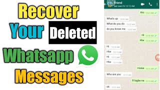 How To Recover Your Deleted Whatsapp Messages   Restore Whatsapp Messages