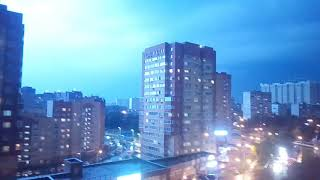 Мощная гроза в Москве 14.08.2017   Thunderstorm, Russia