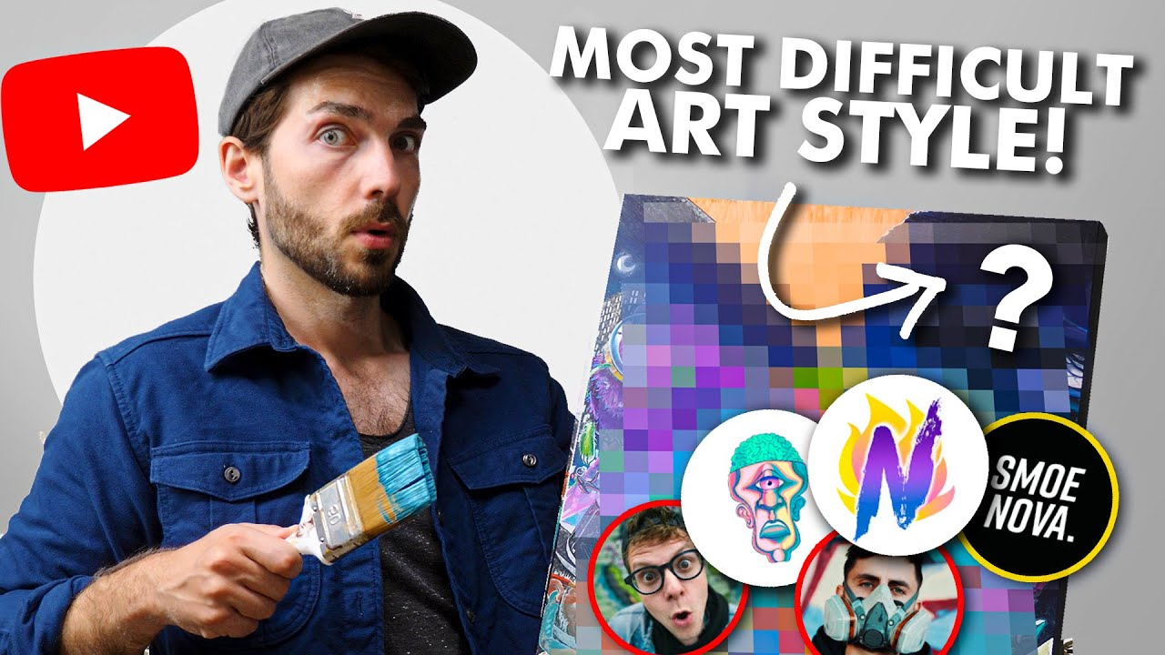 Painting the BIGGEST YouTube Art Collab... with world's MOST DIFFICULT painting technique!