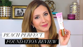 Review and Wear Test on Too Faced Peach Perfect Foundation | Full Coverage for Oily or Mature Skin?