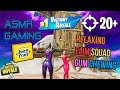 ASMR Gaming 😴 Fortnite Relaxing Elimination Squad Gum Chewing 🎧🎮 Controller Sounds + Whispering 💤