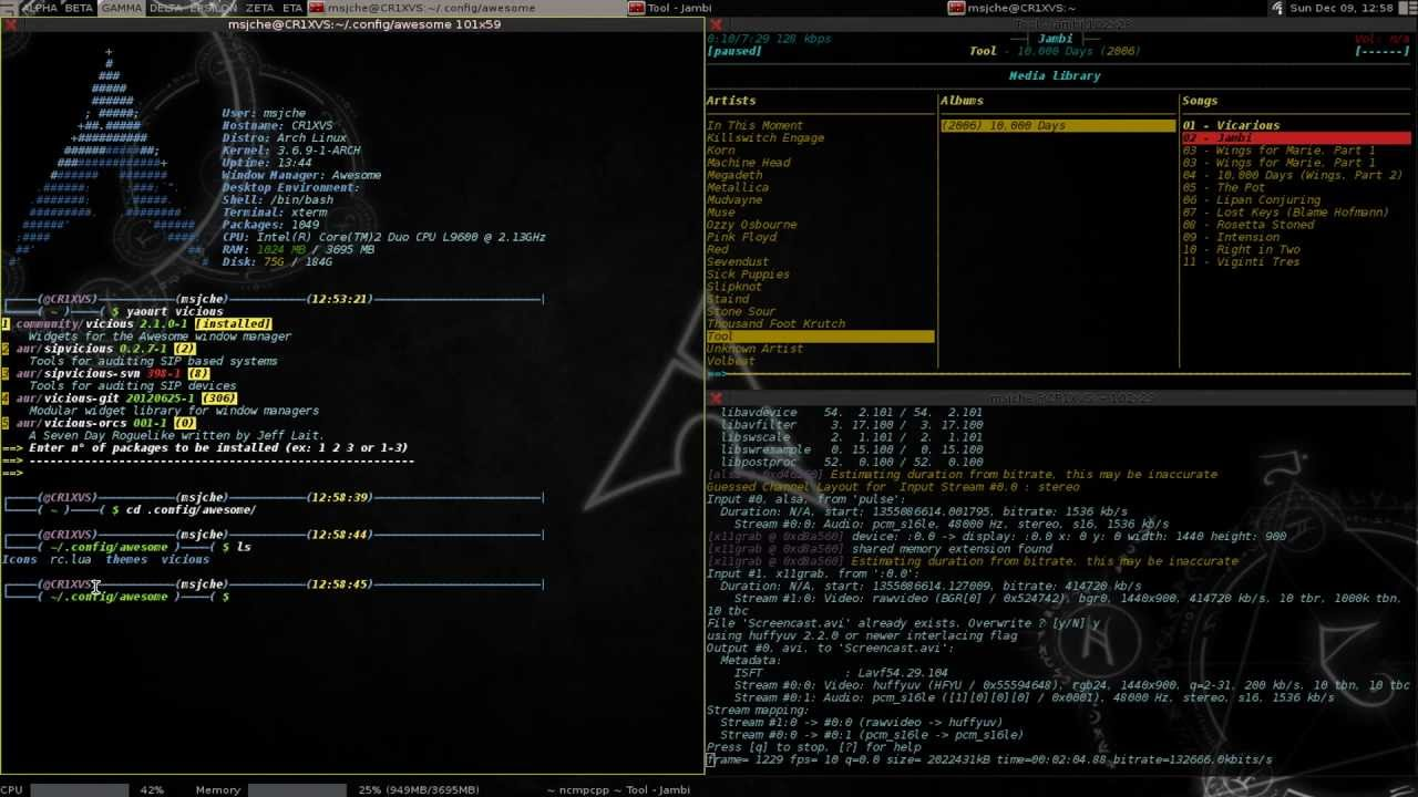 outdated - Customize Widgets in Awesome Window Manager - pt 1 - Arch Linux