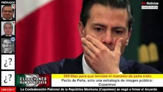 Durísimo golpe: La (Coparmex) se negó a firmar el Acuerdo de peña nieto