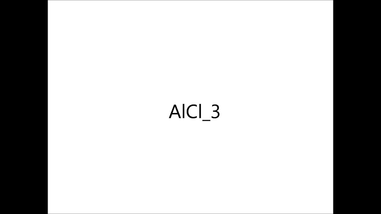 electron dot diagram for aluminum pumpkin seed aluminium chloride alcl3 youtube
