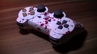 Blood SPLATTER Effect Ps3 Controller MOD Umbau Sony Blut Effekt Pad HD