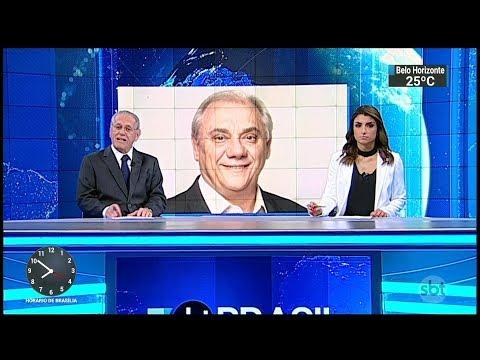 Início do SBT Brasil e anúncio da morte de Marcelo Rezende - 16/09/2017 (HD)