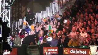 Grand entrance for Ding Junhui & Neil Robertson in Galway - Dafabet PTC Grand Finals 2013