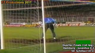 1989-1990 Uefa Cup: Juventus FC All Goals (Road to Victory)