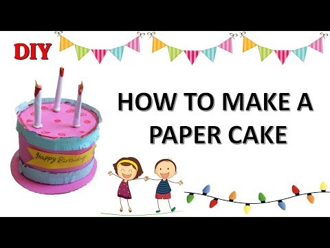 DIY | How to make paper cake | kids crafts | Paper craft ideas | birthday paper decorations