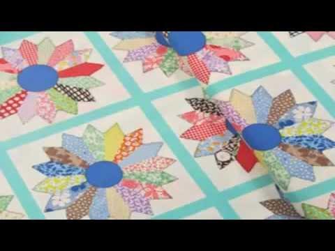 Machine Quilting Dresden Plate Quilt Blocks For Beginners