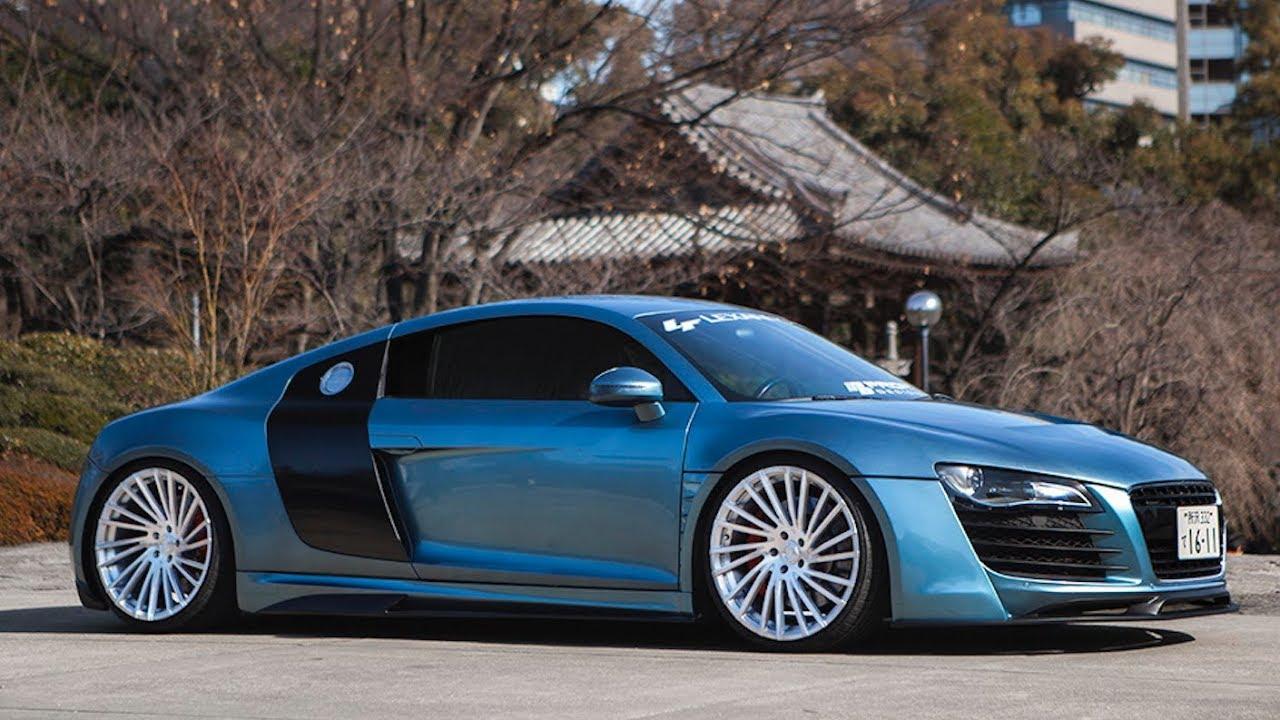 """Prior Design Widebody Audi R8 on 20"""" Monoblock Lexani Wheels - YouTube"""