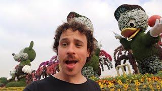 El jardín de flores MÁS CARO del mundo! | Dubai 🌸🇦🇪