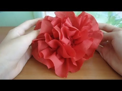 How to make a flower of a napkin for 3 minutes youtube how to make a flower of a napkin for 3 minutes mightylinksfo