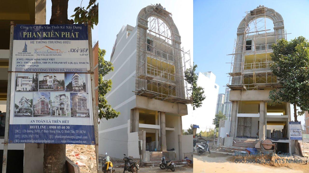 Công trình biệt thự cổ điển 1 trệt 5 lầu diện tích 8x20m l Phan Kiến Phát Corp
