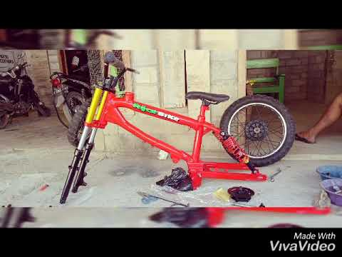 Proses Rangka Bmx Motor Youtube