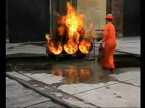 Use of Carbon Dioxide Fire Extinguisher