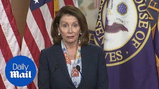 Nancy Pelosi stumbles over her words at press conference