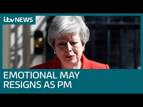 In full: Tearful Theresa May resigns as prime minister in Downing Street speech | ITV News